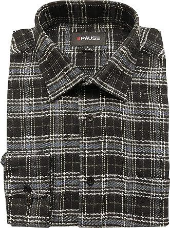 PM London - Camiseta de Manga Larga para Hombre (Franela y Cuadros Informales, 100% algodón Cepillado, Talla M - 2XL): Amazon.es: Ropa y accesorios