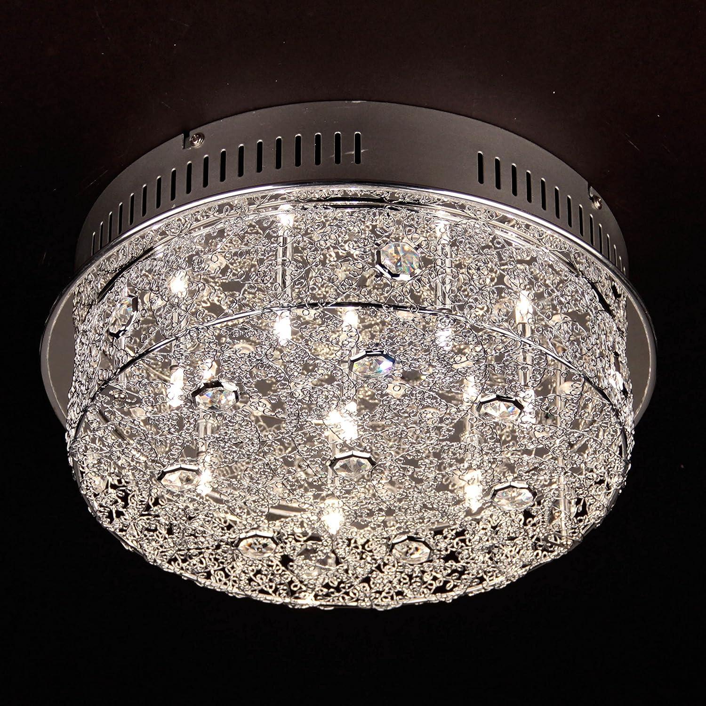 LICHT-TREND Gliz/LED-techo/9-luces + ledes azules/cromo ...