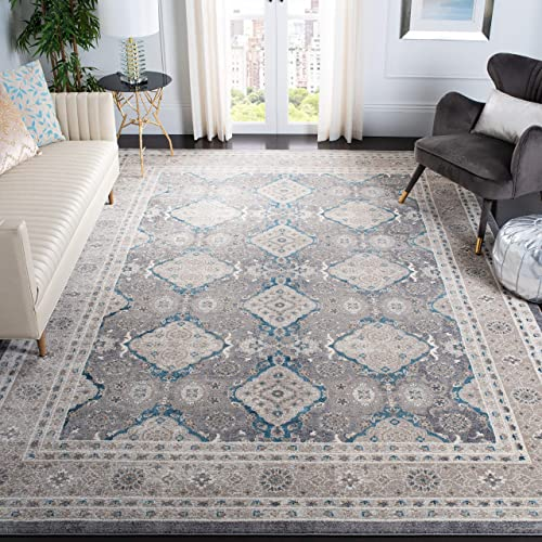 Safavieh Sofia Collection SOF366B Vintage Light Grey and Beige Distressed Area Rug 8' x 11'