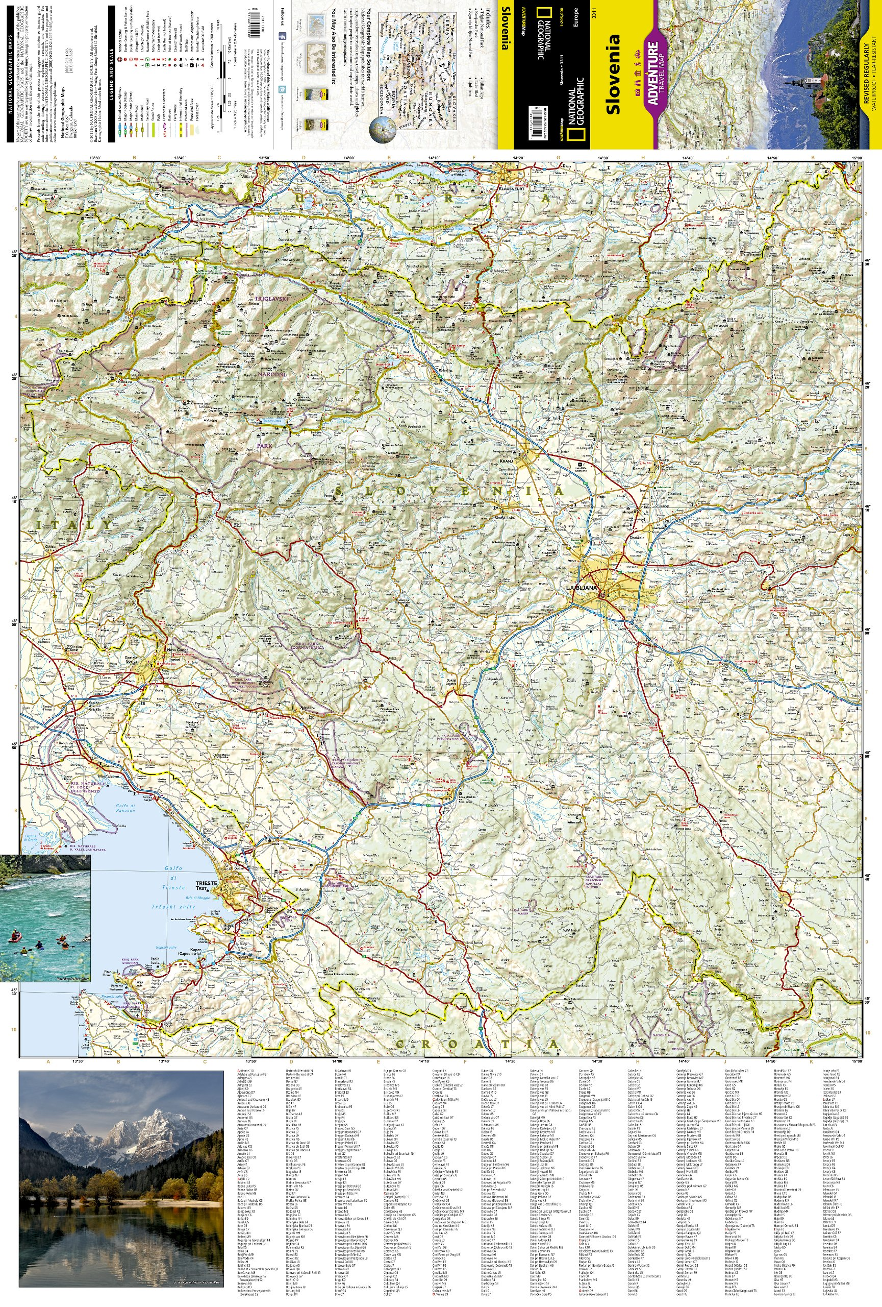 Slovenia National Geographic Adventure Map National Geographic - Slovenia map hd