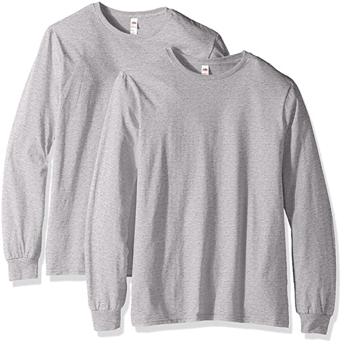 ad568dcb8283 Fruit of the Loom Men s Long Sleeve T-Shirt (2 Pack) at Amazon Men s ...