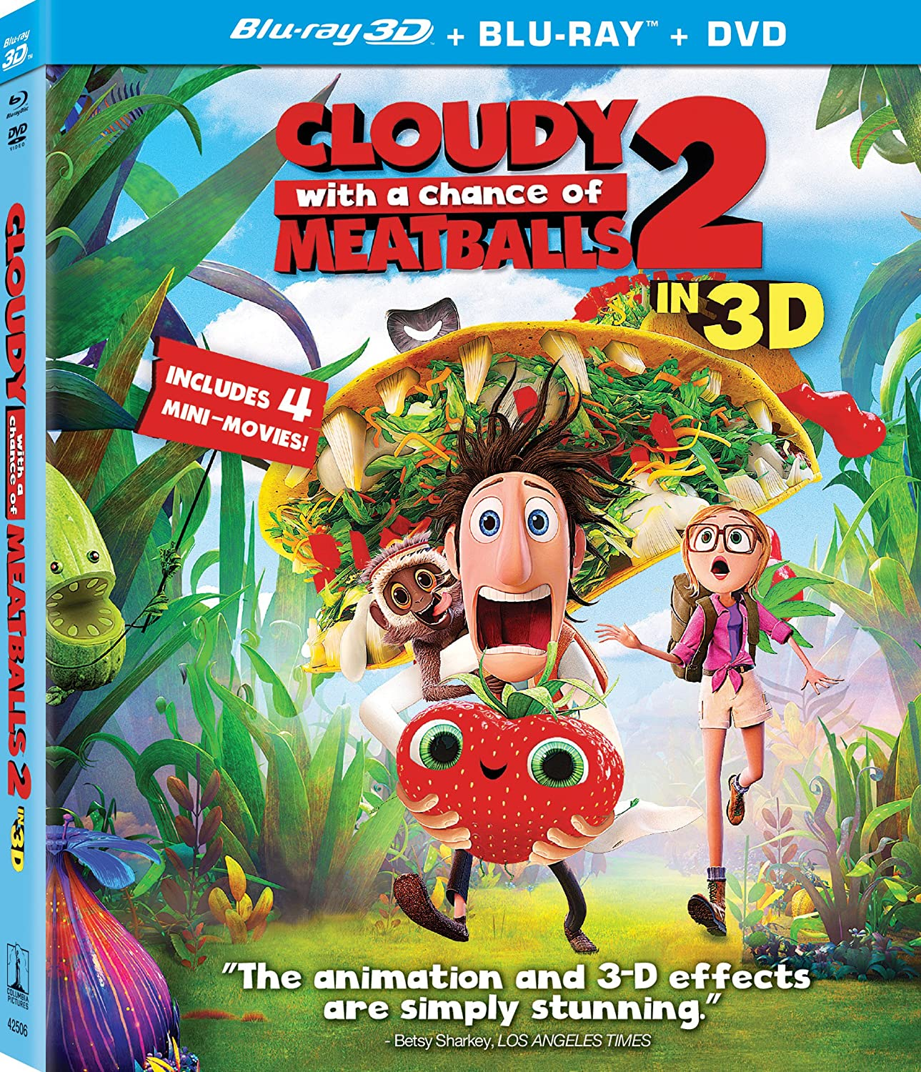 amazon com cloudy with a chance of meatballs 2 three disc combo