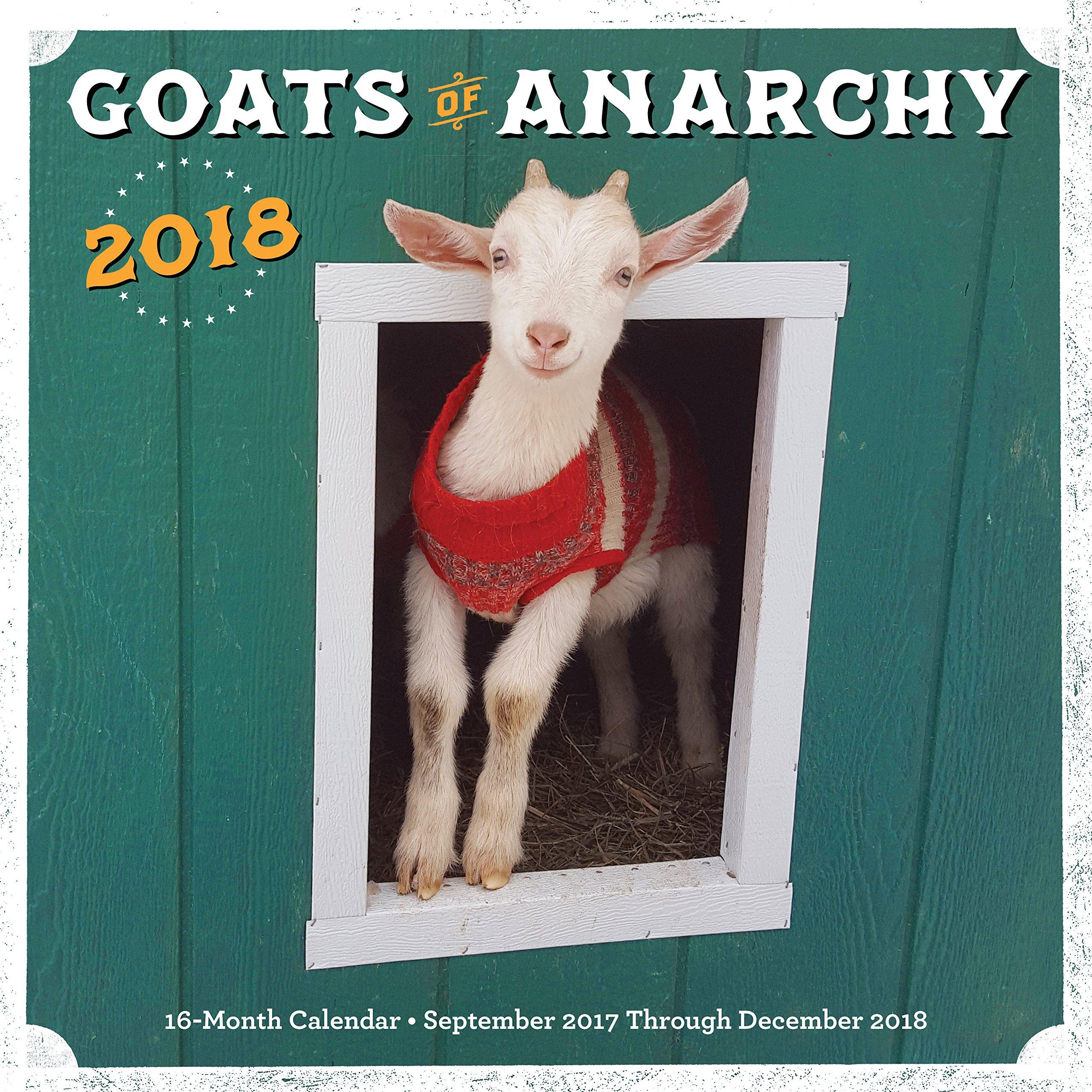 Sluh Calendar.Goats Of Anarchy 2018 16 Month Calendar Includes September 2017