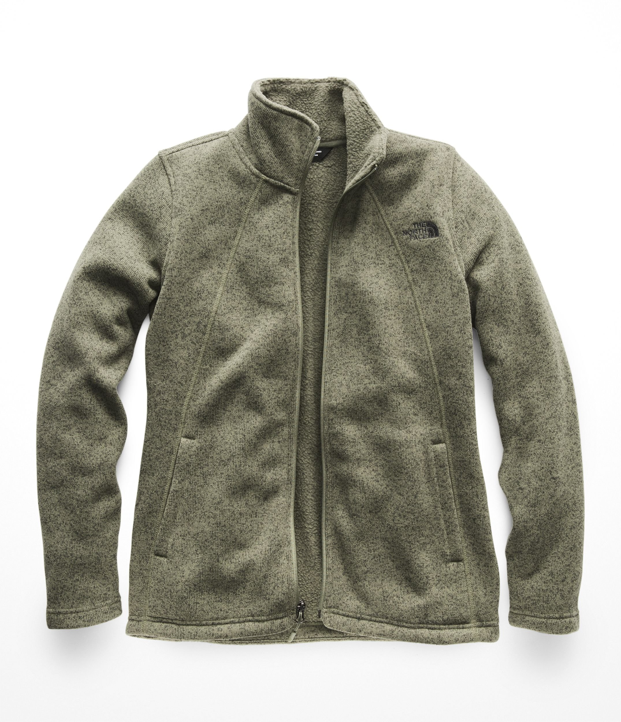 The North Face Womens Crescent Full Zip - Four Leaf Clover Heather - XS