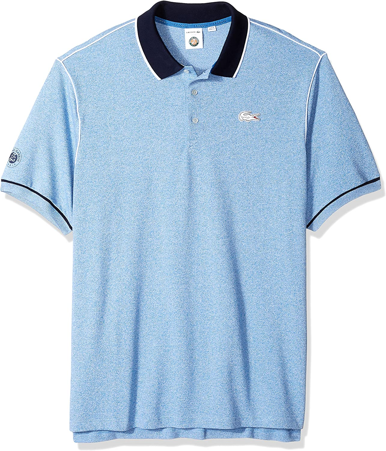 PH3374 Lacoste Mens Short Sleeve Pique with Contrast Piping /& Collar Polo