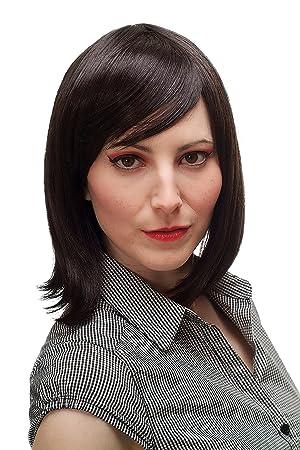 Beauty salon hair sexy black shoulder wig