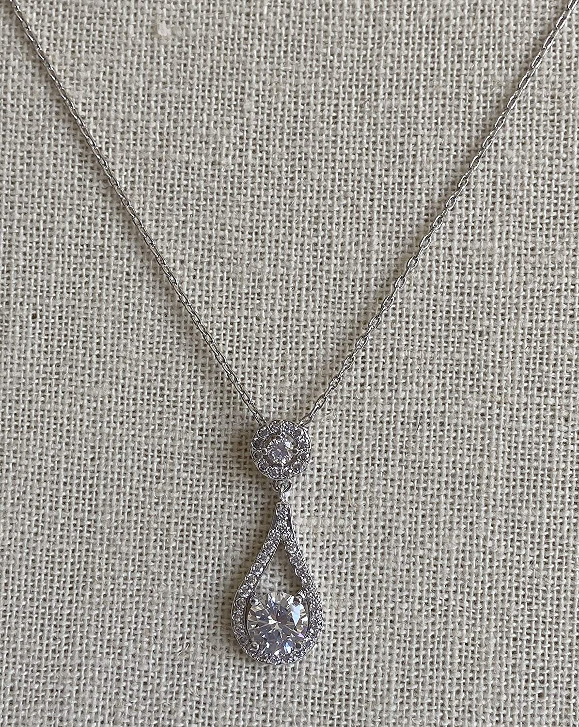 Custom Bridesmaid Necklace with personalized message Bridesmaids Proposals with Cubic Zirconia Jewelry in gift boxes
