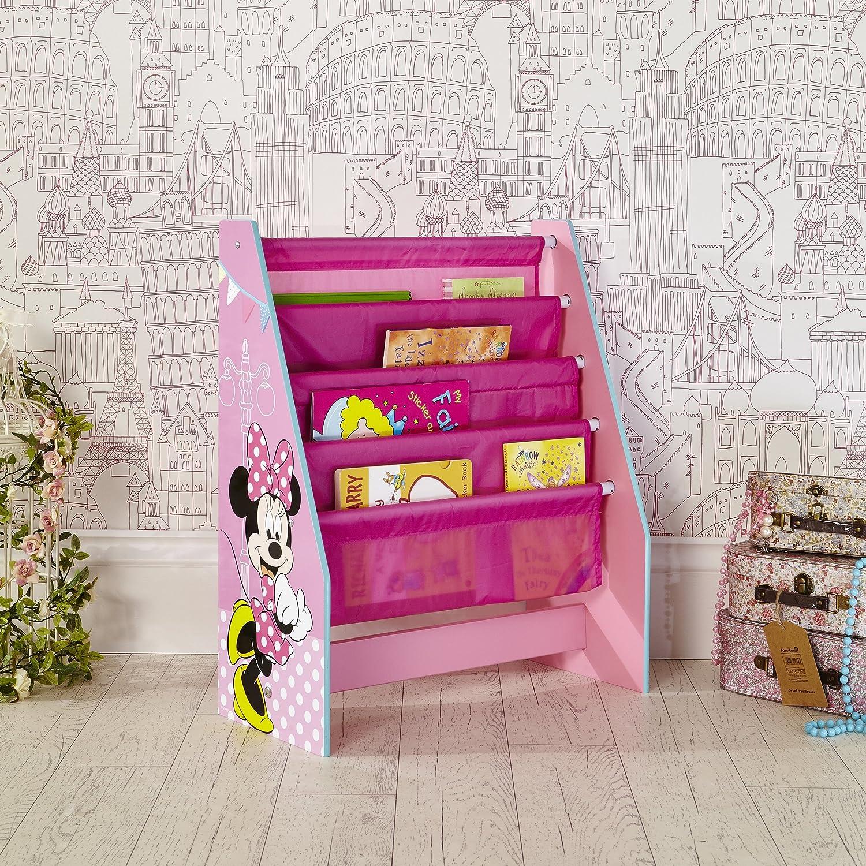 Rangement de livres pour chambre d/'enfant Biblioth/èque /à pochettes pour enfants Minnie Mouse