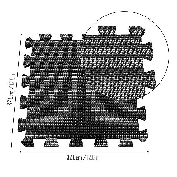 Esterilla Puzzle de Fitness – 18 losas de Goma Espuma + Bordes | Alfombrilla Protectora expandible | Protección para el Suelo | para máquinas de ...