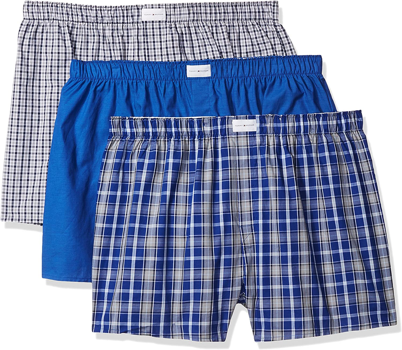 Tommy Hilfiger Mens Underwear Multipack Cotton Classics Woven Boxer