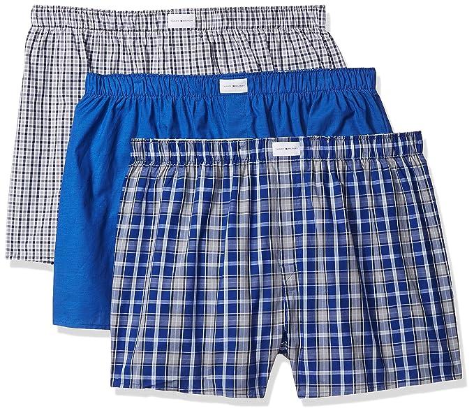 cf7087b6c781 Tommy Hilfiger Men's Underwear 3 Pack Cotton Classics Woven Boxers (Blue  Plaid), Blue Plaid/Solid Blue/Navy Plaid, XX-Large: Amazon.ca: Clothing &  ...