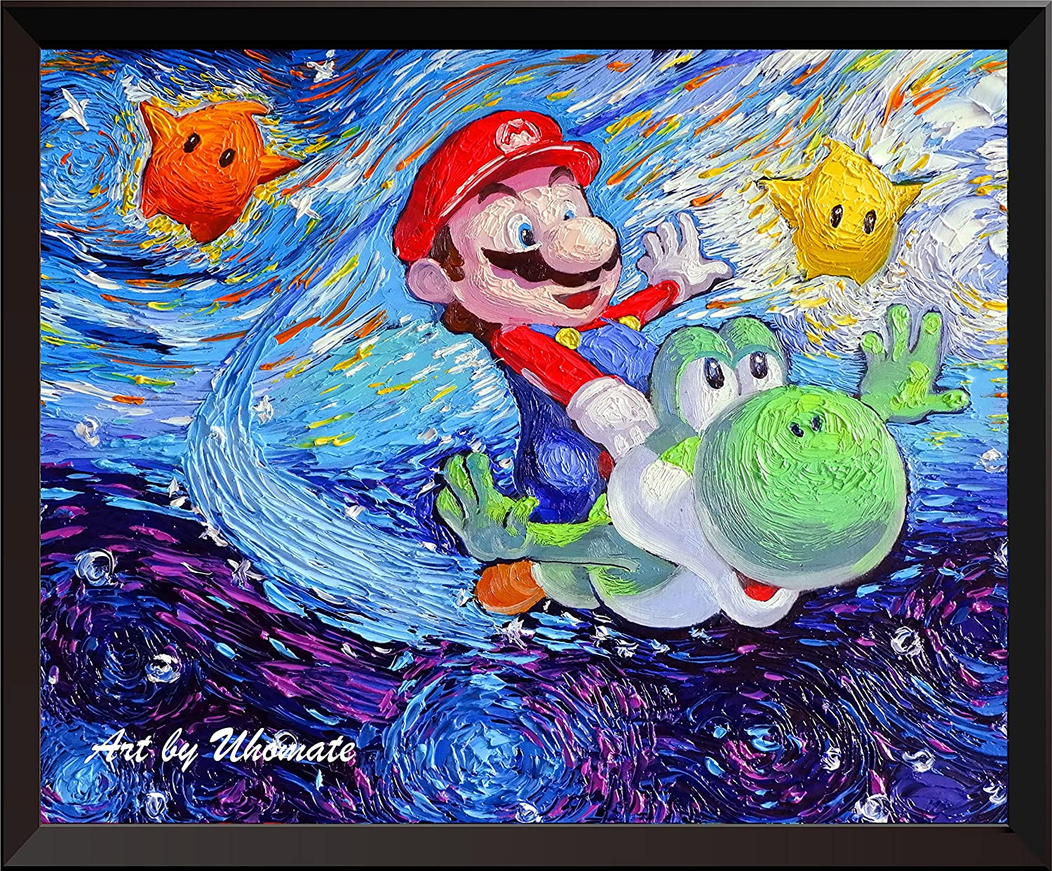 Uhomate Super Mario Bros Under The Sea Wall Decor Vincent Van Gogh Starry  Night Posters Home Canvas Wall Art Print Anniversary Gifts Baby Gift  Nursery