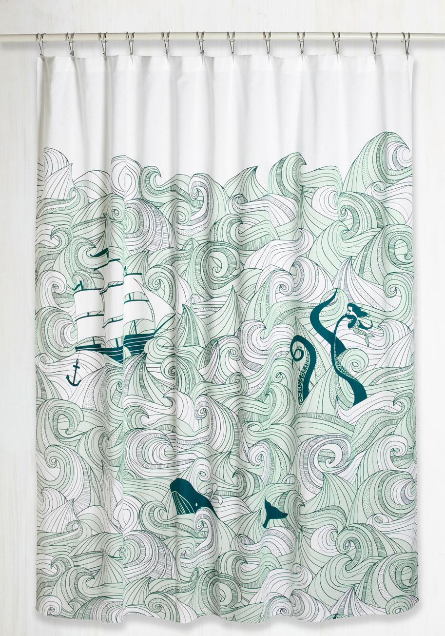 Swell Acquainted Shower Curtain | Mod Retro Vintage Bath | ModCloth.com
