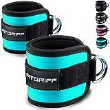 Fitgriff Fußschlaufen (gepolstert) (2Stück) - für Fitness Training am Kabelzug - Ankle Straps für Frauen und Männer - 2 Jahre Gewährleistung