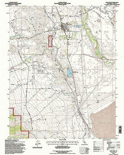 Amazon Com Yellowmaps Lone Pine Ca Topo Map 1 24000 Scale 7 5 X