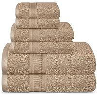 TRIDENT Soft & Plush Towels Pack of 6 Towels - 2 Extra Large Bath (76*137cm), 2 Large Hand (41*66cm), 2 WASH Cloths (30…
