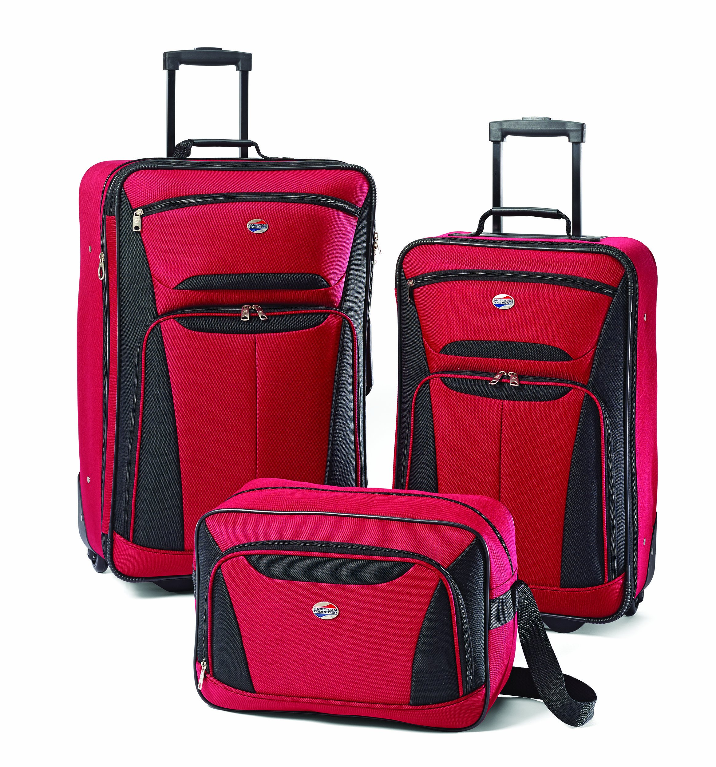 American Tourister Luggage 3-Piece Set, Red/Black by American Tourister