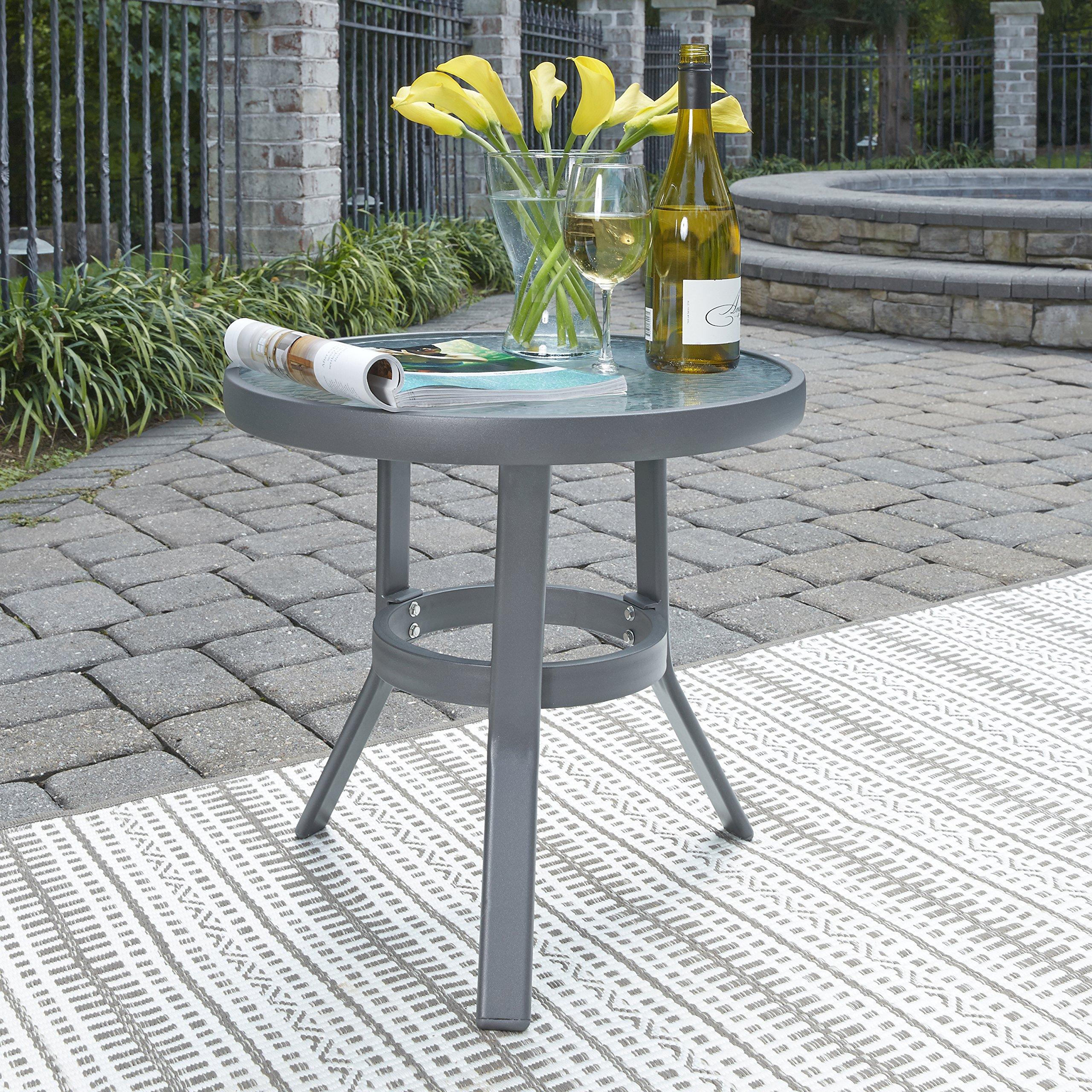 Home Styles 5702-20 Daytona Accent Table, Gray