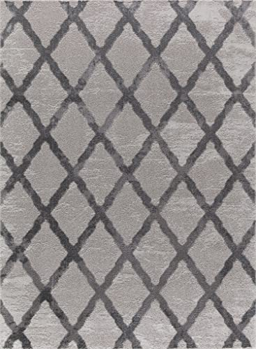 Mod-Arte Twilight Collection Area Rug Contemporary Modern Style Grey 3 9 X5 2