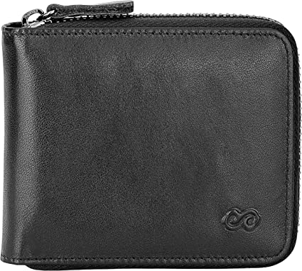 Men/'s Large Space Zippered Leather Wallet Phone Multi-function Double-layer EA
