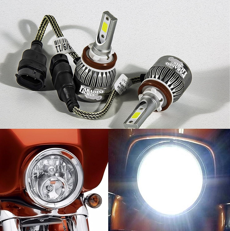 Super Bright Harley Headlight Dual-bulb LED Kit for Street Glide, Road King or CVO With 2 Bulb Headlight Speedlight