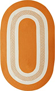 product image for Crescent Oval Area Rug, 8 by 11-Feet, Orange