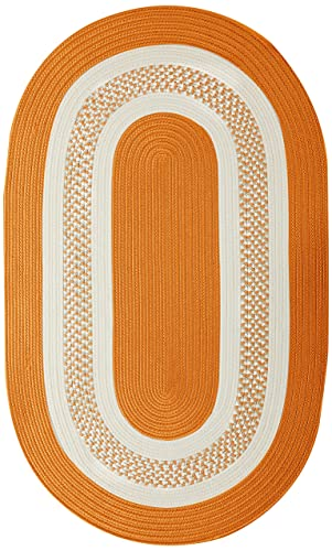 Crescent Oval Area Rug, 5 by 8-Feet, Orange