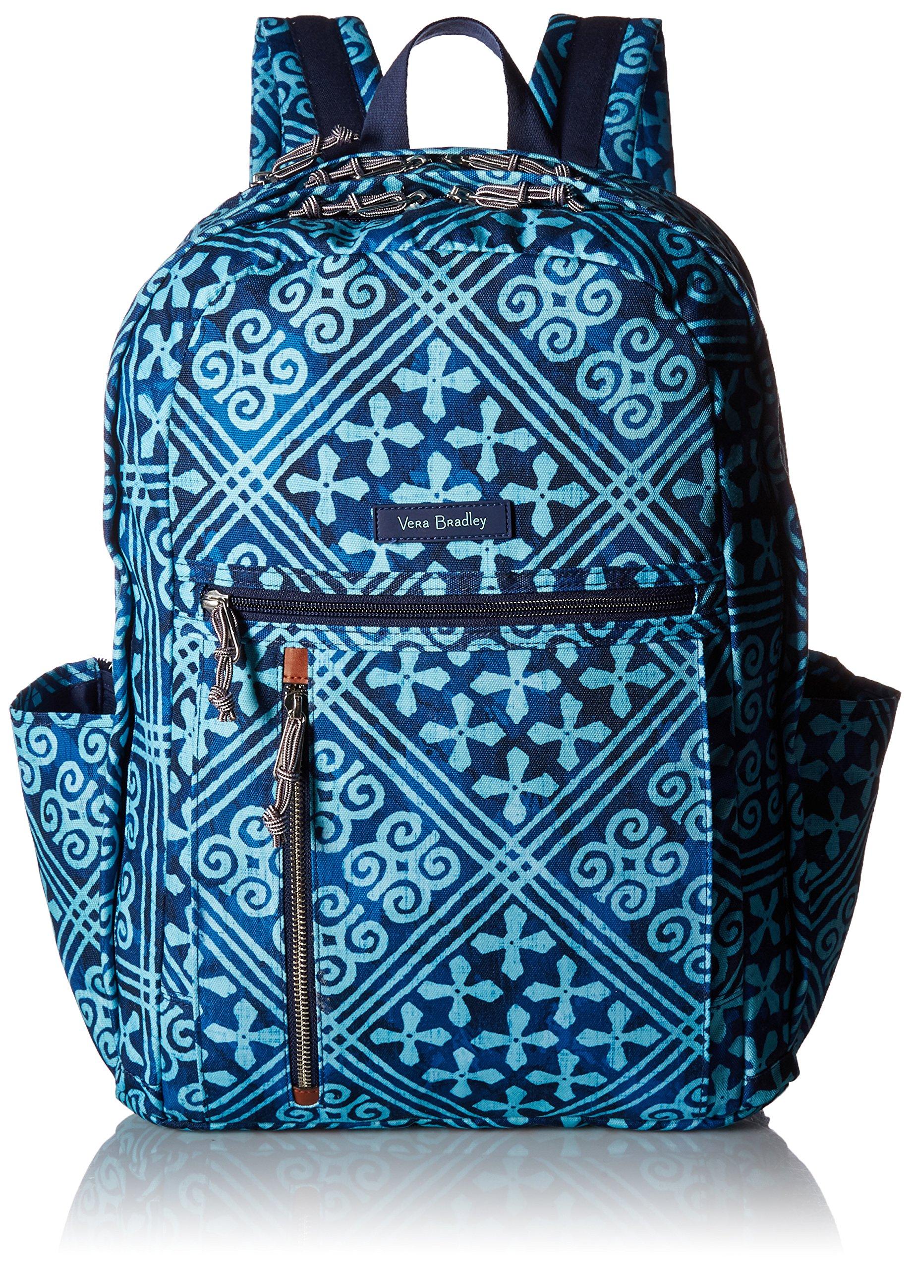 Vera Bradley Women's Grand Backpack Cotton, Cuban Tiles