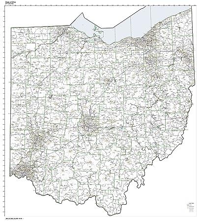 Amazon.com: ZIP Code Map State of Ohio Laminated: Home & Kitchen