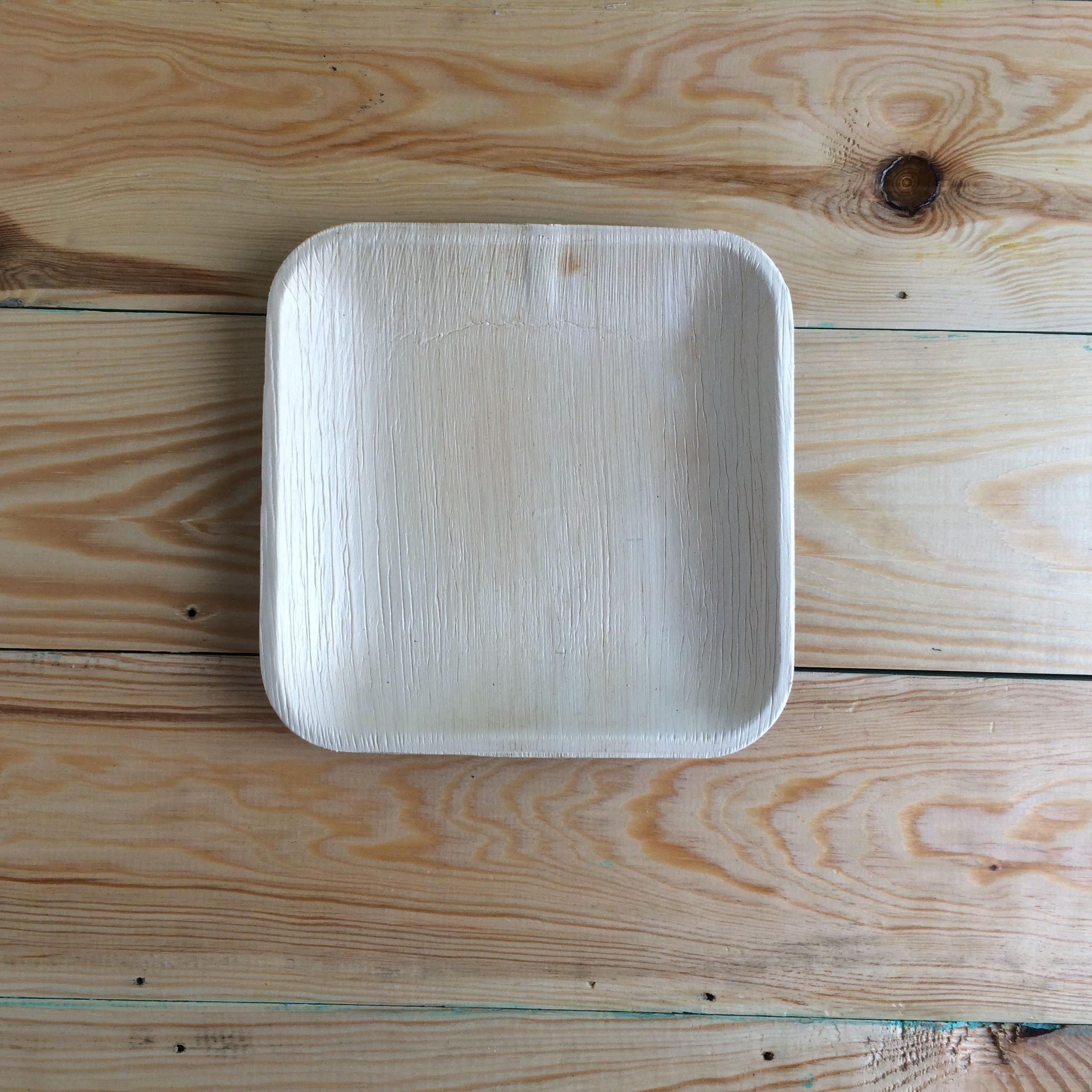 Disposable Plates Made of Palm Leaf: Heavy Duty & Eco - Better Than Wood & Bamboo- Square Shape (6'' Square Plate - 25 Pcs, Peach to tan) by Adaaya (Image #6)