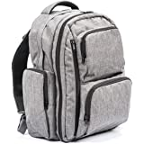 Large Capacity Diaper Bag Backpack- with YKK Zippers, Two Packing Cubes, Wet/Dry Bag, Changing Pad and Stroller Straps…