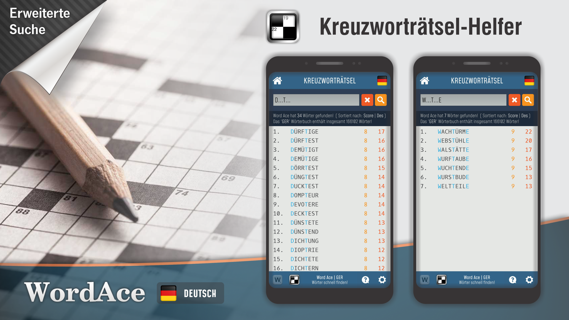 Word Ace - German Word finder & Anagram solver: Amazon.es: Appstore para Android