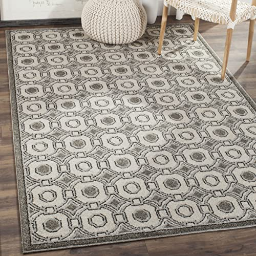 Safavieh Amherst Collection AMT431E Geometric Area Rug, 6 x 9 , Ivory Grey