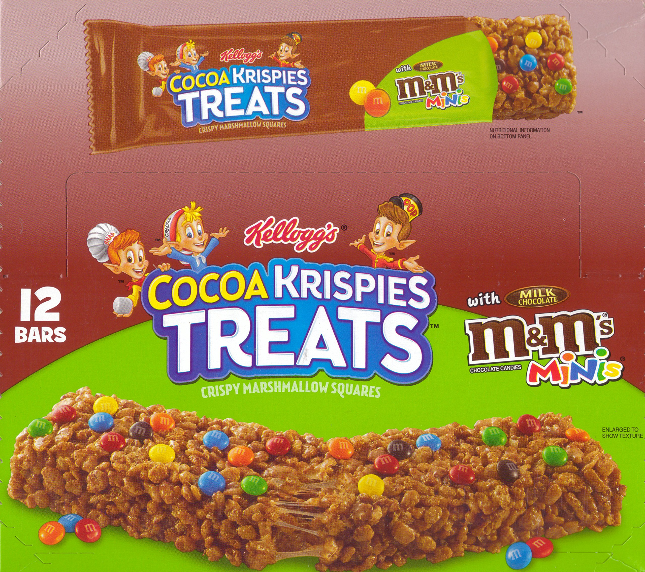 Rice Krispies Treats M&M'S Chocolate Candies Minis Square with Milk Chocolate Candies. 12 - 1.94 Oz Bars