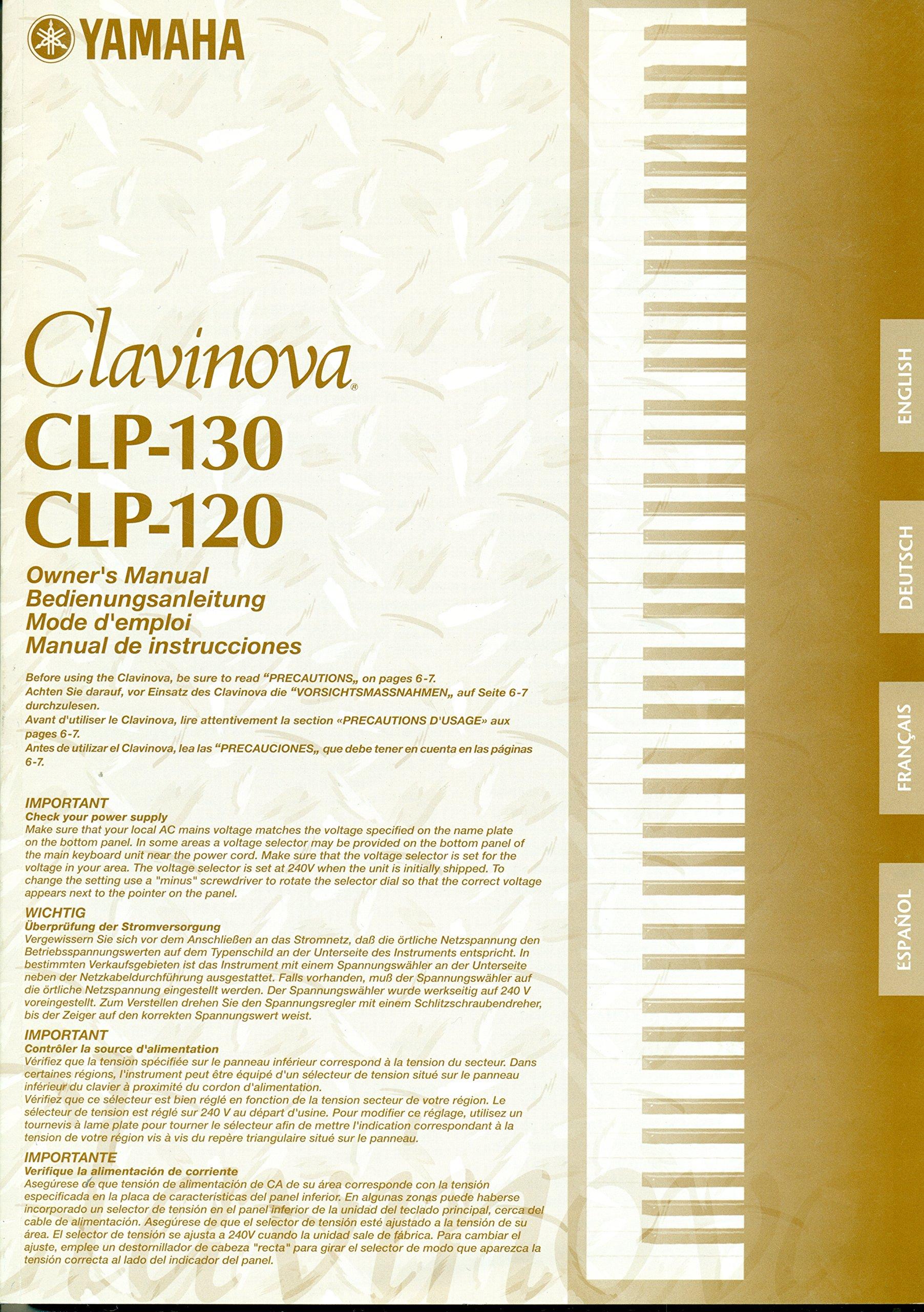 Yamaha Clavinova CLP-130, CLP-120 Manual: Yamaha Clavinova: 0799804608528:  Amazon.com: Books
