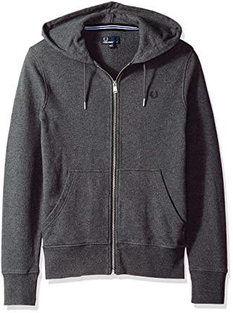 Fred Perry FP Loopback Hooded Sweat, Sudadera para Hombre, Graphite Marl, S