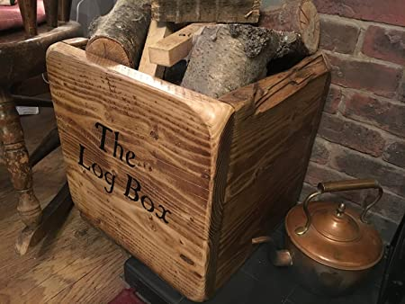 Merveilleux (NEW) Wooden Log Box,Very Strong Log Holder,Logs Wood And Kindling