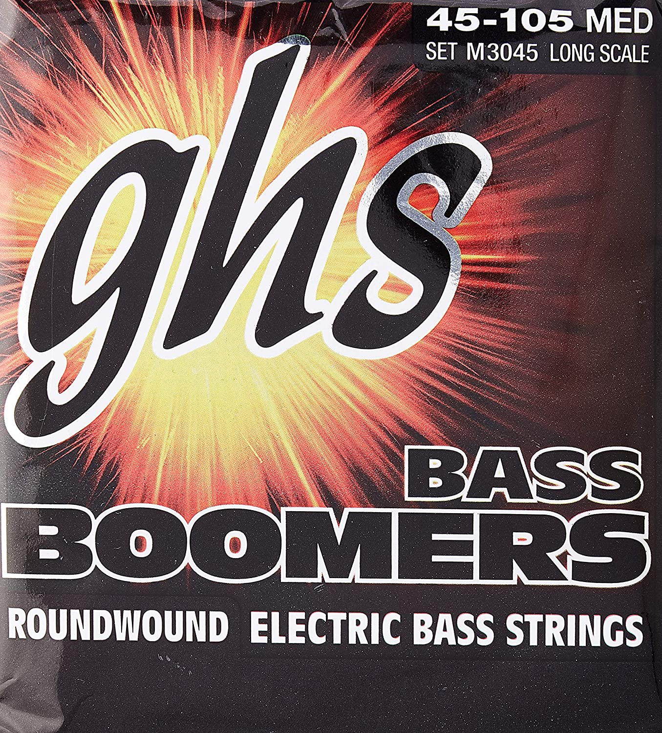 B0002D01UO GHS Strings M3045 4-String Bass Boomers, Nickel-Plated Electric Bass Strings, Long Scale, Medium (.045-.105) A1JCcKPNcRL