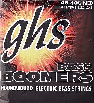 GHS M3045 Boomers Bass Guitar Strings 45-105 medium long scale