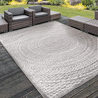 "product image for Orian Rugs Boucle High-Low Indoor/Outdoor Cerulean Area Rug, 6'6"" x 9'6"", Silverton"