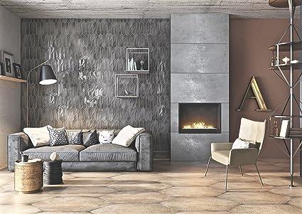 3x12 Modena Collection Smoky Gray Glazed Italian Ceramic Tile