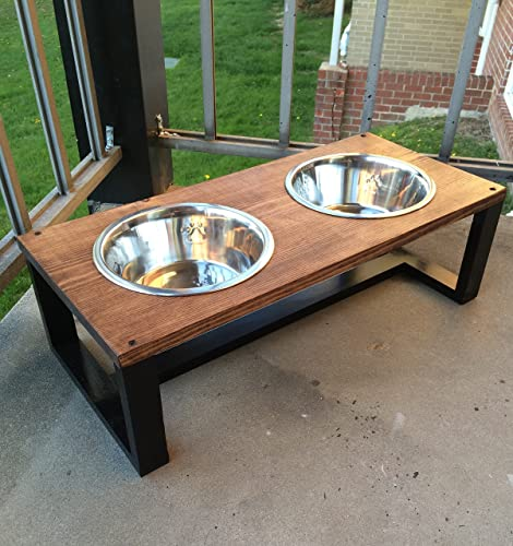 Modern pet bowl holders, wood dog bowl holder, contemporary pet, cat bowl  holder