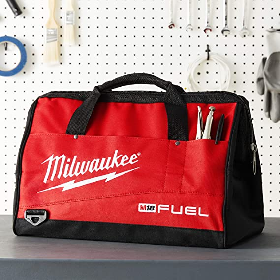 Milwaukee CONTRACTOR CANVAS TOOL BAG XL Shoulder /& Dual Palm Straps *USA Brand
