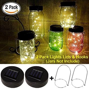 multi color outdoor solar jar design. Waterproof Mason Jar Solar Lights,LED Lights Fairy Decor Firefly Multi Color Outdoor Design O