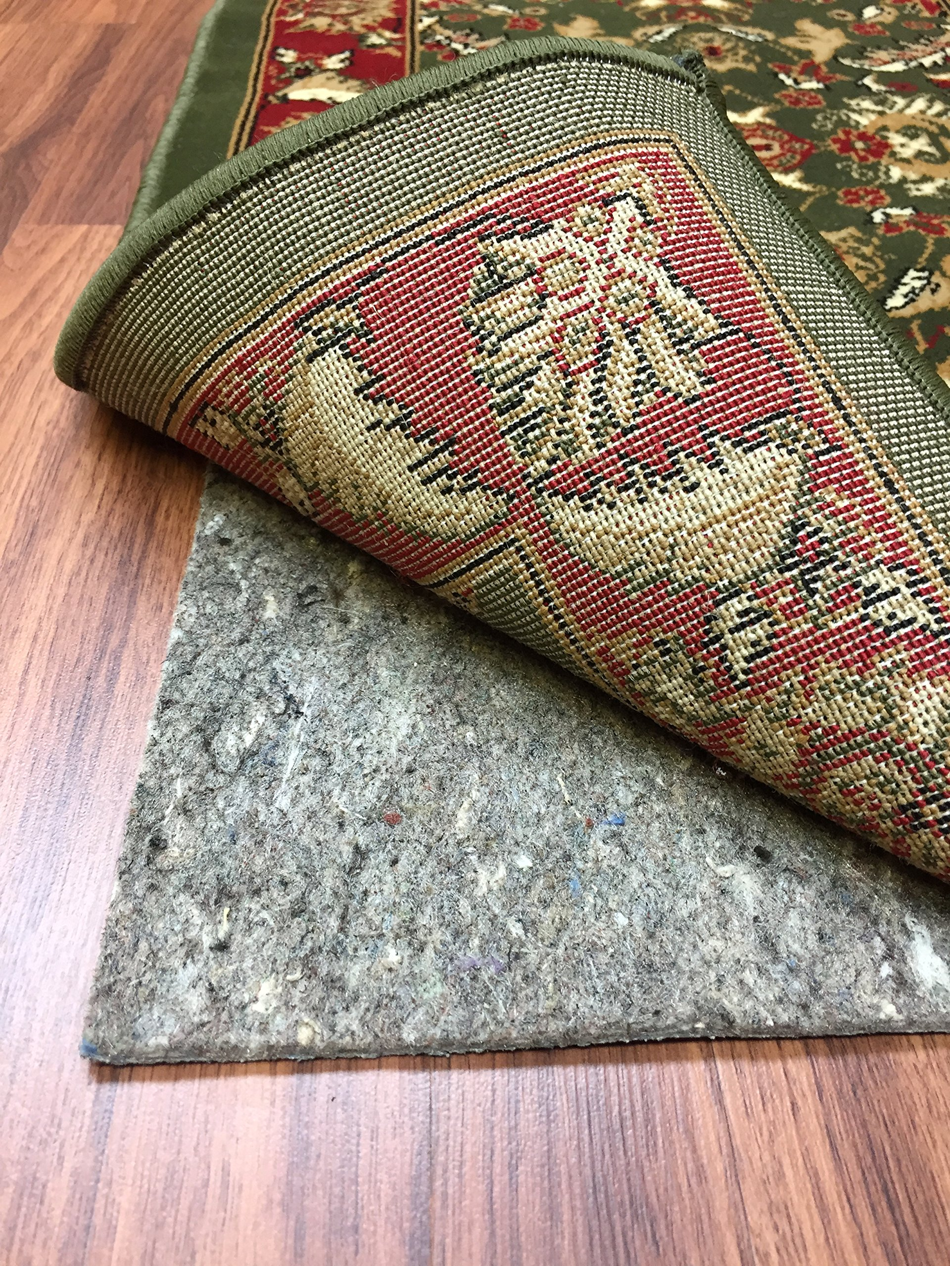 Area Rugs Pad Fiber Non Slip Padding Perfect for Hardwood Floors Thick Felt Cushion for Rugs Nonskid Kitchen (4'x6')