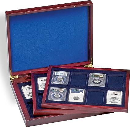 Leuchtturm 309278 Estuche para Monedas VOLTERRA Trio de Luxe, Cada una para 8 US-SLABS: Amazon.es: Oficina y papelería