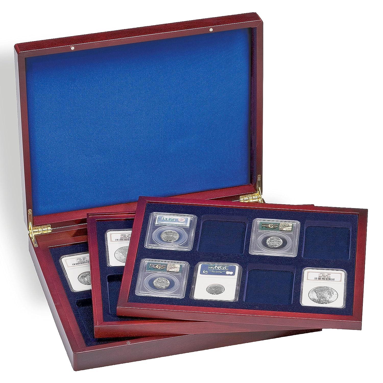 grandes ahorros Leuchtturm 309278 309278 309278 Estuche para monedas VOLTERRA TRIO de Luxe, cada una para 8 US-SLABS  el precio más bajo