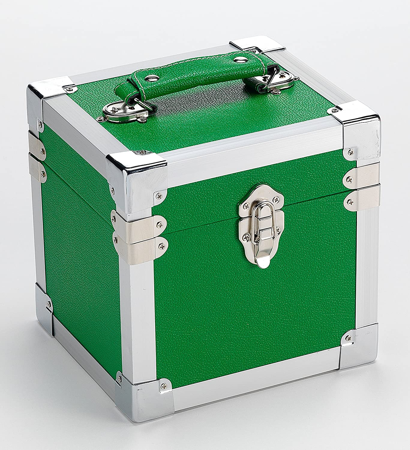 7 Inch 50 Record Storge Carry Case GREEN 1 LP