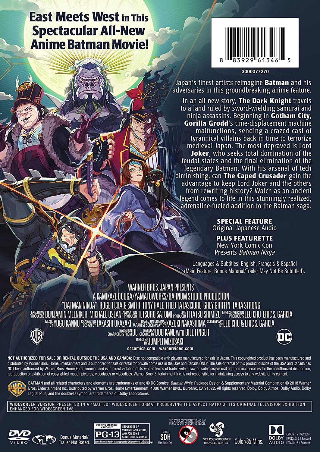 Amazon.com: Batman Ninja: Roger Craig Smith, Fred Tatasciore ...