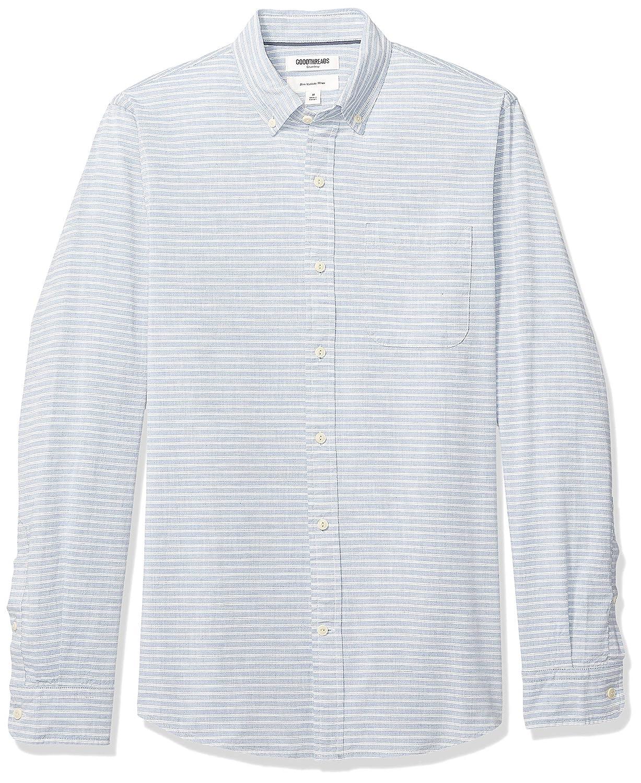Goodthreads Mens Slim-Fit Long-Sleeve Pinstripe Chambray Shirt Brand